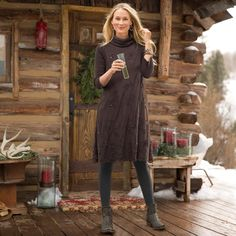 """EVENTIDE DRESS--Dusky mesh floats over our easy-to-wear embroidered mesh dress with sweater accents. Pull-on style, with lofty mohair and muted sequins. Fully lined. Nylon/polyester/wool/rabbit hair. Dry clean. Imported. Exclusive. Sizes XS (2), S (4 to 6), M (8 to 10), L (12 to 14), XL (16). Approx. 38-1/2""""L."""
