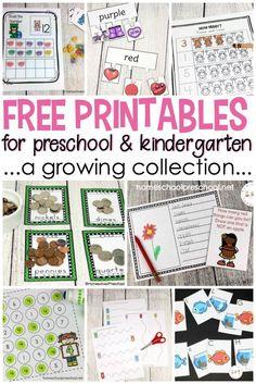 Free Preschool Printables for Your Homeschool Preschool