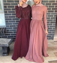 Dress idea Style Hijab Casual Kondangan 40 Ideas Easy Fitness For Time Crunched Moms Article Muslim Prom Dress, Hijab Prom Dress, Prom Night Dress, Hijab Gown, Hijab Evening Dress, Nikkah Dress, Dress Brokat, Hijab Wedding Dresses, Dress Outfits