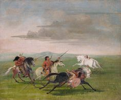 Comanche Feats of Horsemanship by George Catlin kp