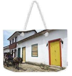 Horse Drawn Carriage, Paraty, Brazil Weekend Tote