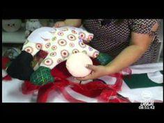 Manualidades muñeco navideño para silla HOLA FAMILIA ZARACAY TV