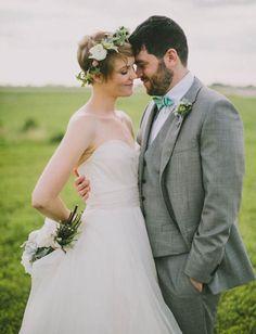 Eco-Friendly Airplane Hanger Wedding: Caitlin + Steven