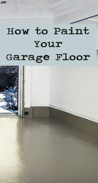 How to paint garage floor.. For my home someday! #Lifehack