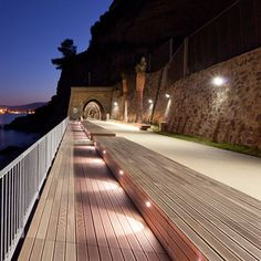 Public Promenade by 3S Studio. Rehabilitated railway turned urban promenade in Albisola Superiore, Italy