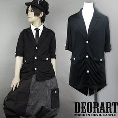 CDJapan : Swallowtail Tailor Jacket (Cutsew Fabric) feat. Rolled Up Sleeve (M) DRT2098-B Deorart APPAREL