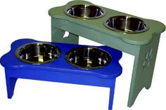 bone shape dog bowl stand