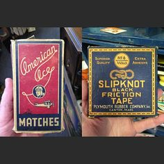Double header from the same antiques shop.  Dig them both. #typehunter #badgehunting #typehunting #vintagepackaging