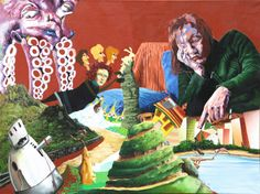 GEORGE KARAKASOGLOU: Maria is destroying her present life and thinks of northern countries. Oil on canvas 60x80 cm. (2009)
