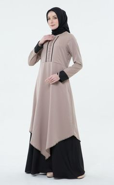 Gamis Simple, Simple Long Dress, Fashion Outfits, Womens Fashion, Plus Size Dresses, Muslim, Couture, My Style, Model