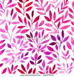 Vector watercolor retro pattern with purple leaf. Watercolor graphic which can be used as wallpaper (use seamless pattern under mask) Watercolor Images, Watercolor Pattern, Pattern Pictures, Tree Patterns, Retro Pattern, Leaf Shapes, Textured Background, Floral Prints, Royalty Free Stock Photos