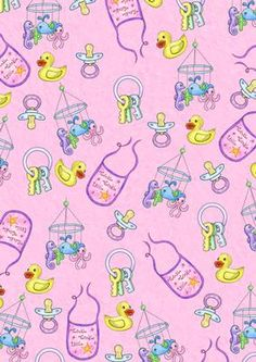 Baby Girl Fun Pink Backing Paper Background on Craftsuprint - View Now!