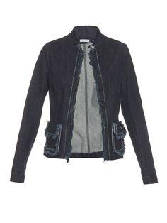 Frayed-edge denim jacket by Tomas Maier | Shop now at #MATCHESFASHION.COM