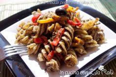 Pasta fredda con pesto di olive e peperoni - In cucina con Zia Ralù