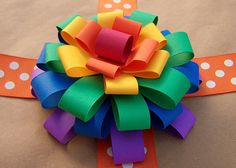 very easy to make paper bow.