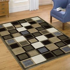 "AllStar Rugs Fume Modern Geometric square Formal design Area Rug. Size: 7'9"" x 10'5"""