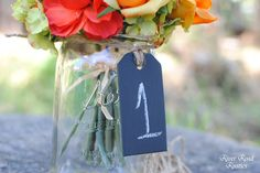 Wood Chalk Board Tags (Set of 5) For Table Numbers,  Candy Bar, Buffet Table, Etc. $10.00, via Etsy.