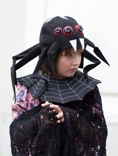 Faschingskostüm für Kinder: Spinnenkostüm für Karneval, Verkleidung als Spinne für Fasching / carnival costume for kids: spider costume made by Designer Brause via DaWanda.com
