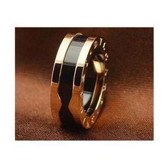 6dcbfb1c3dd Anel aliança bvlgari titânio e cerâmica folheado a ouro 18k perfeito!  maravilhoso anel aliança bvlgari