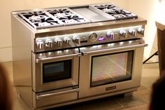thermodor stainless steel appliances   did not Photoshop the photo above. The baby just comes off gleaming ...