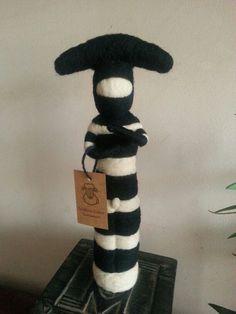 Needle Felting, Art Dolls, Knit Crochet, Plush, Sculpture, Wool, Knitting, Style, Feltro