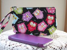 Clutch Wristlet Zipper Gadget Pouch Purse in  by Antiquebasketlady