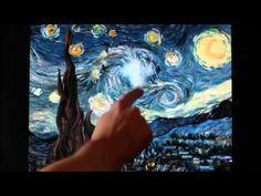 インタラクティブに変化するゴッホの「星月夜」アニメーション - YouTube