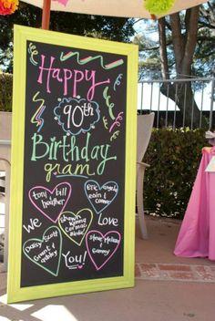 80th birthday party ideas | Found on karaspartyideas.com