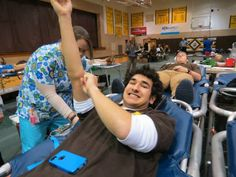 Danny Bayer hopes to earn a Red Cord. — with danny bayer at Archbishop Alter High School.  #blooddonor #hero