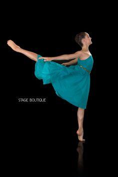 LYRICAL DRESS - POLISHED, $69, Jade Slow Modern Dance Costume, Stage Boutique, www.stageboutique.com