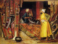 carpet seller | par jehan georges vibert paintings