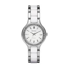 I need this white watch in my life  ) DKNY Ceramica White Dial Ladies Watch  (dkny 4d208be3c7