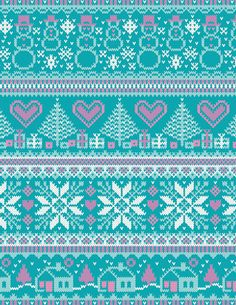 Knitting Charts Winter 42 Ideas For 2019 Fair Isle Knitting Patterns, Knitting Charts, Lace Knitting, Knitting Stitches, Motif Fair Isle, Fair Isle Chart, Fair Isle Pattern, Knitted Christmas Stockings, Christmas Knitting