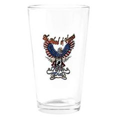 Pint Drinking Glass Powmia The Blood Of Heroes Never Dies And US Flag  » Price: $24.97