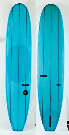 dan's noserider  --  What vibrant blue color for these longboards!