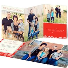 Photo Christmas Cards -- Warm and Fuzzy #ChristmasCards #Family #holidaycards