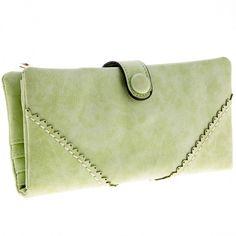 New Women's Fashion Long Wallet Retro Button Handbag Wallet Purse
