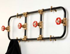 Cute coat rack for the loft I dream about.