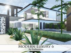 Modern Luxury 6 house by Pralinesims at TSR via Sims 4 Updates
