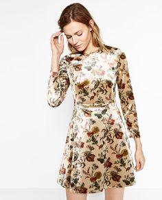 PRINTED VELVET DRESS-NEW IN-WOMAN | ZARA Italy