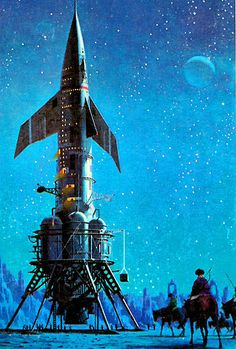 "Artwork by Dean Ellis (for The Last Hurrah Of The Golden Horde). Another pin from ""Atomic Rockets."""