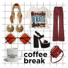 """but first, coffee"" by ecenurdonmezz on Polyvore featuring Isa Arfen, Victoria Beckham, Laurel Hill and Retrò"