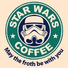 Star Wars Coffee Cross Stitch Pattern