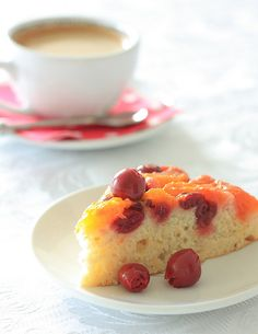 Apricot and Sour Cherry Vegan Cake