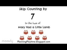 Easy Way to Memorize Multiplication Tables: skip counting song videos