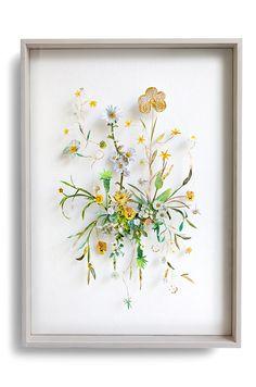 Flower construction #70 (w:50 h:70 d:6.5 cm)