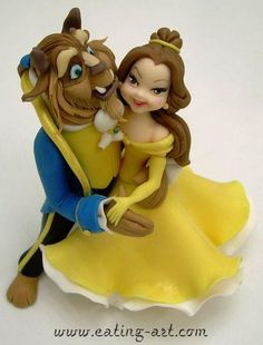 Cake Topper Disney La Bella Y La Bestia : Cake Topper Marzia Caruso. The Beauty and the Beast Cold ...