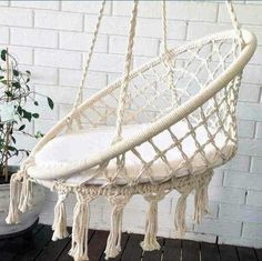 Macrame Hammock chair Hanging Armchair Cotton 100%.