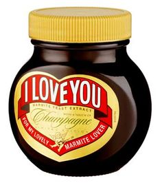 Normally, just before valentines, you can pick up net bags of heart shaped Marmite portions. This year, things are different. How about this - Marmite with Champagne. Not only that, Selfridges are exclusively selling advance jars and 50 of them can be picked up with a silver engraved lid at a mere £145! True, true love for the one you love.