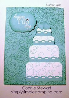 FLASH CARD - Wedding Cake | Simply Simple Stamping